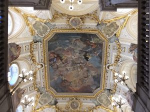 ceiling in the Royal Palace, Madrid
