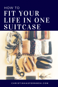 How to pack your life into one suitcase