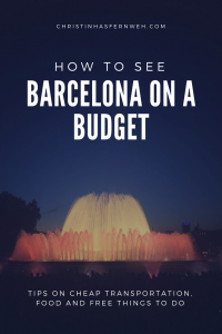Barcelona on a budget - Pinterest