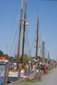 fisher boats on Ryck river in Greifswald