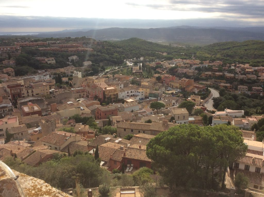 view from Castell de Begur