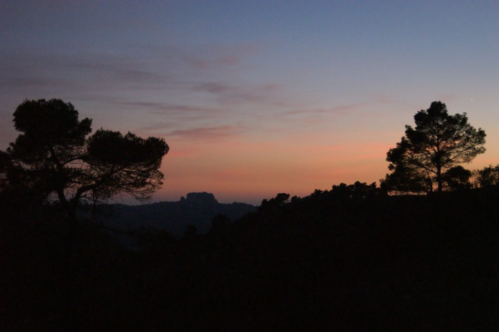 La Mola hike at sunset