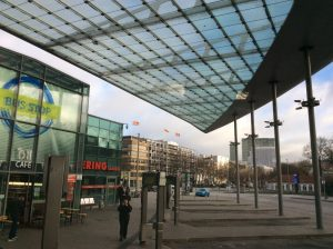 backpacking in Germany: Hamburg bus terminal