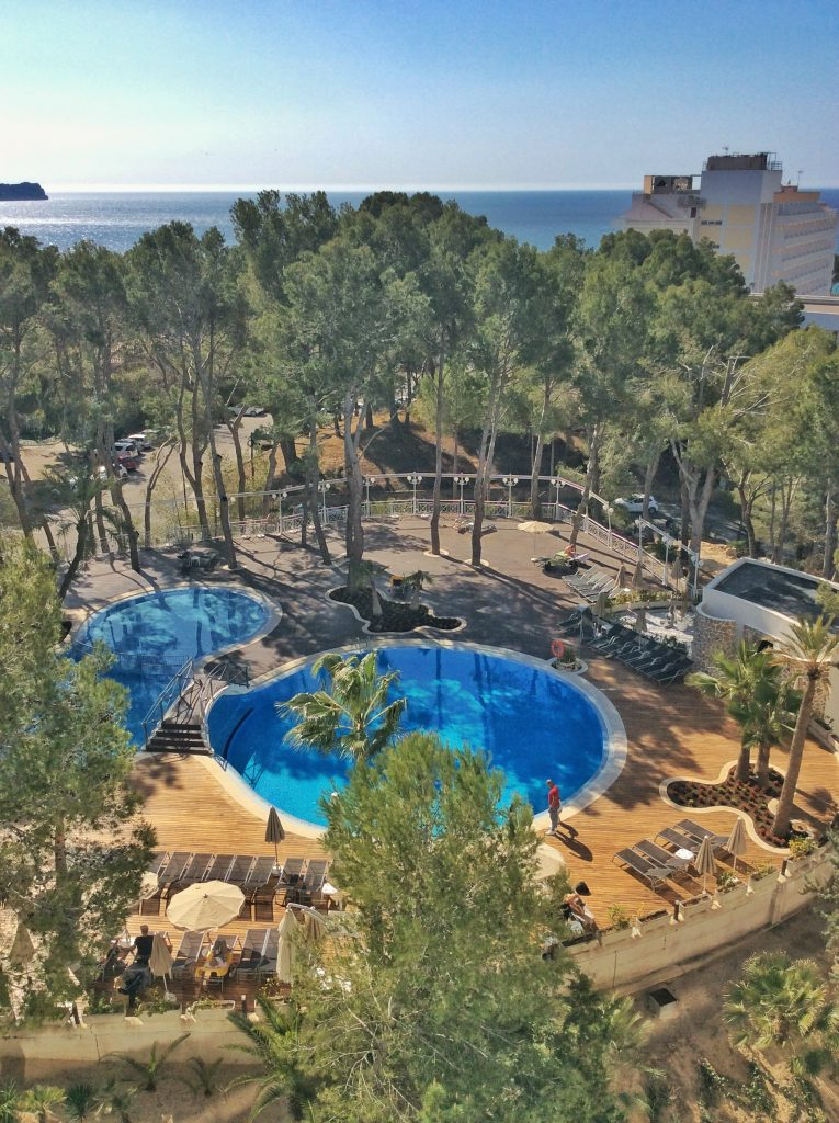 pool at our all-inclusive hotel on Mallorca