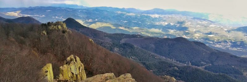 view from the Turo de Morou in Park de Montseny
