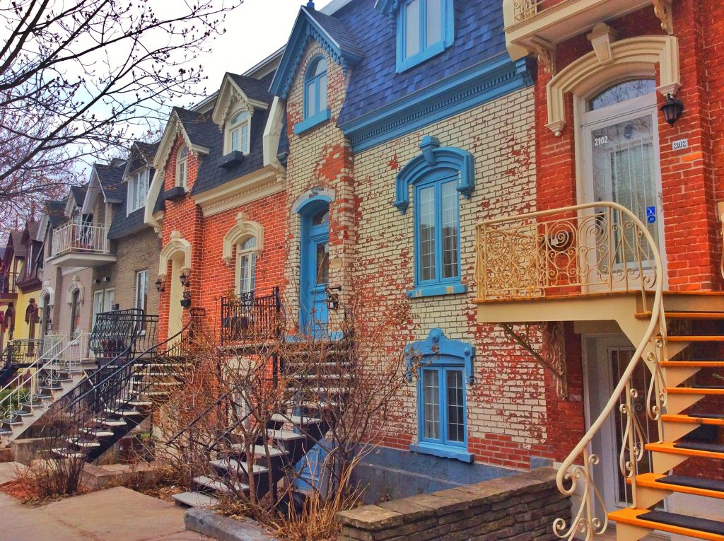 Residential houses in Montreal