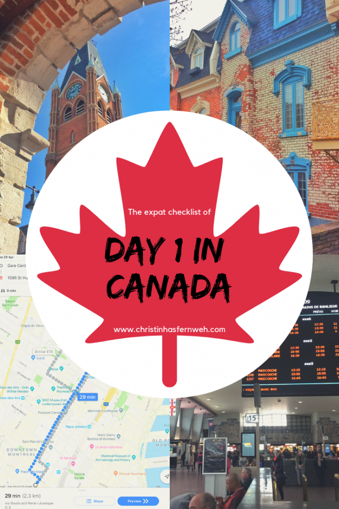 Expat checklist to day one in Canada