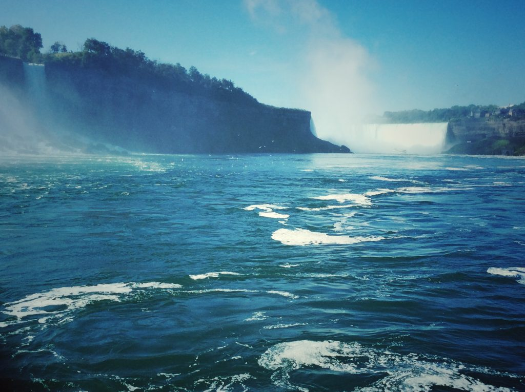 view from the Canadian side of Niagara Falls