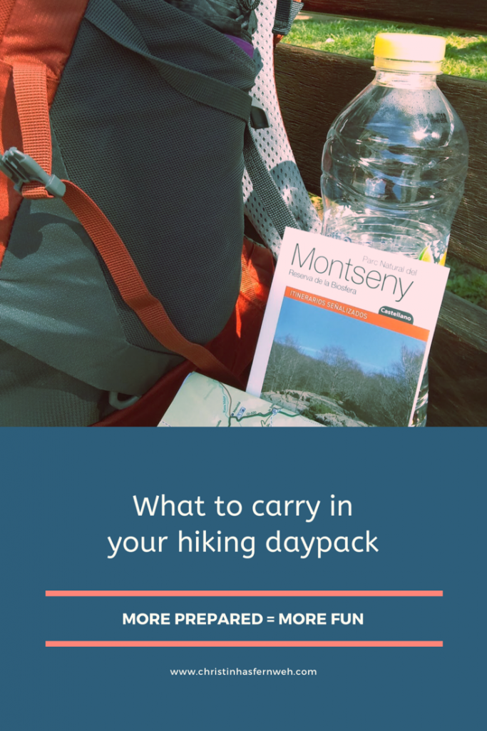 What to carry in your hiking backpack