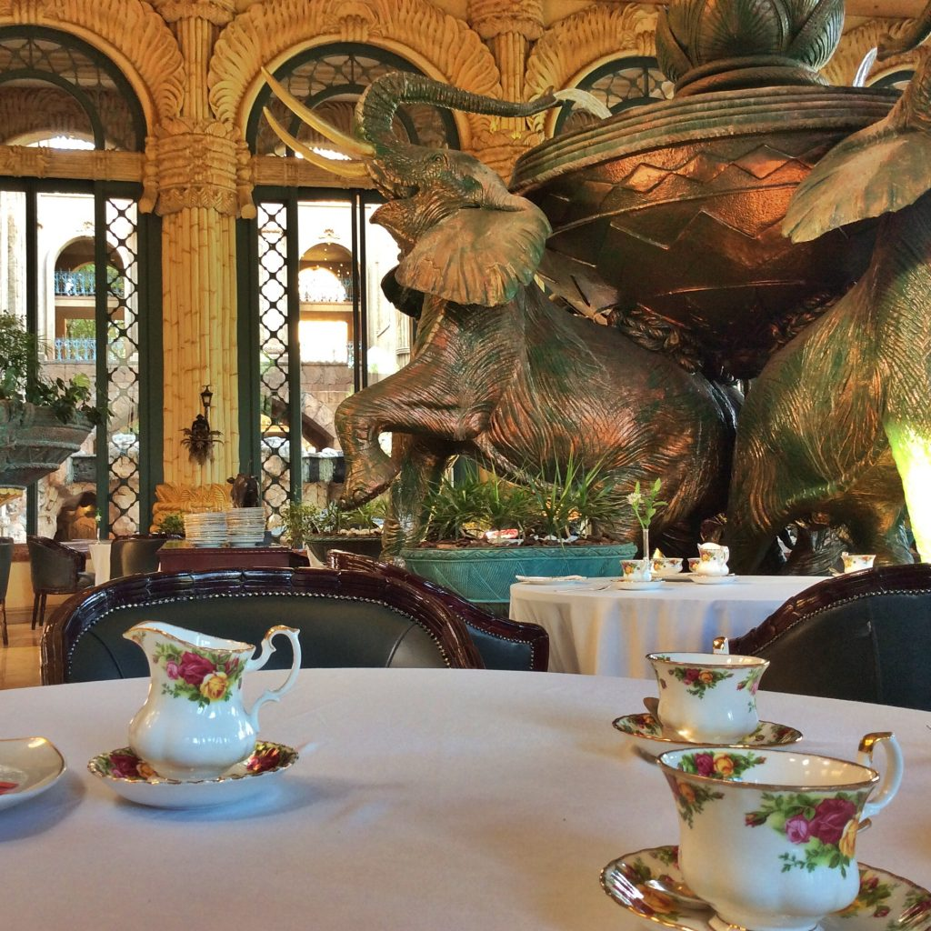 Afternoon tea at the Palace Hotel