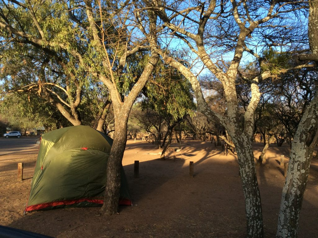 Our campsite at Manyane - first timers itinerary to Pilanesberg