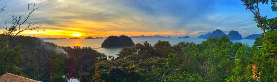 Sunset in El Nido, Philippines, what they do not tell you about the Philippines