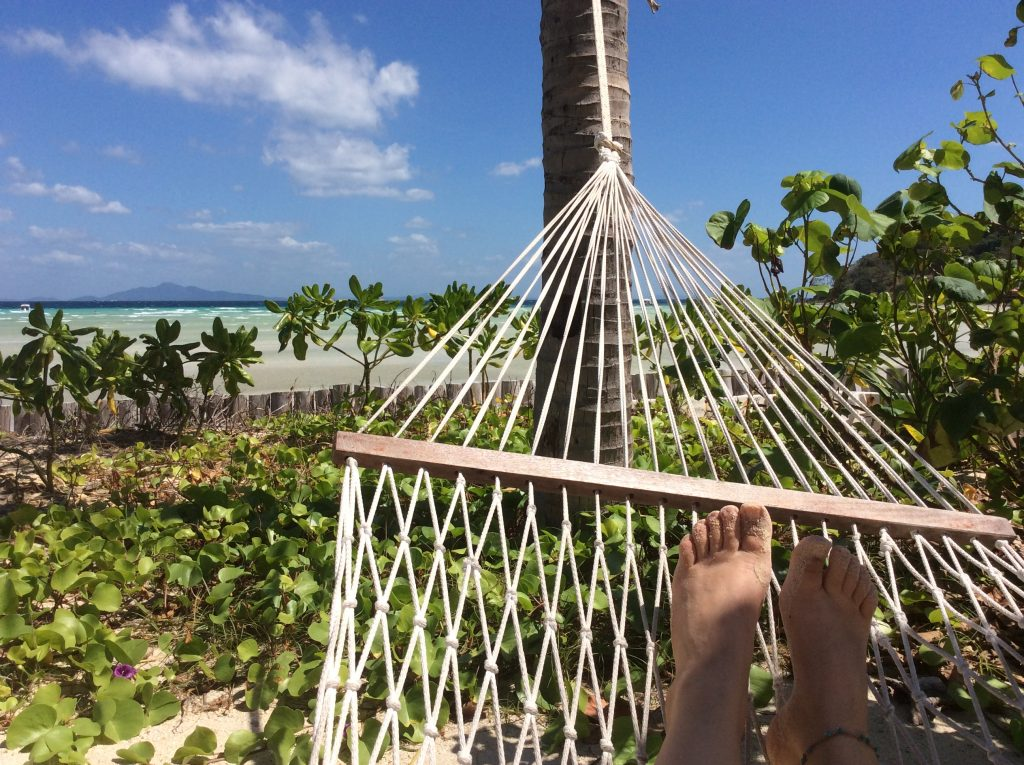 Siesta in a hammock away from the crowds