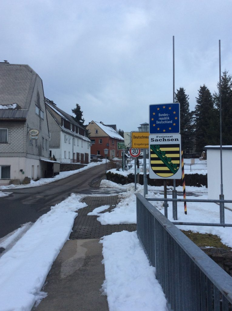 German-Czech border in Deutschneudorf