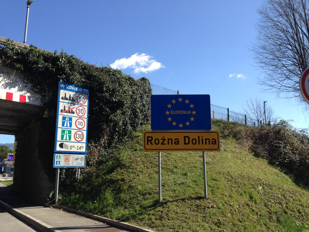 Slovenia Italy border in Gorizia