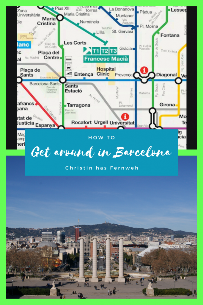 How to get around Barcelona Pinterest