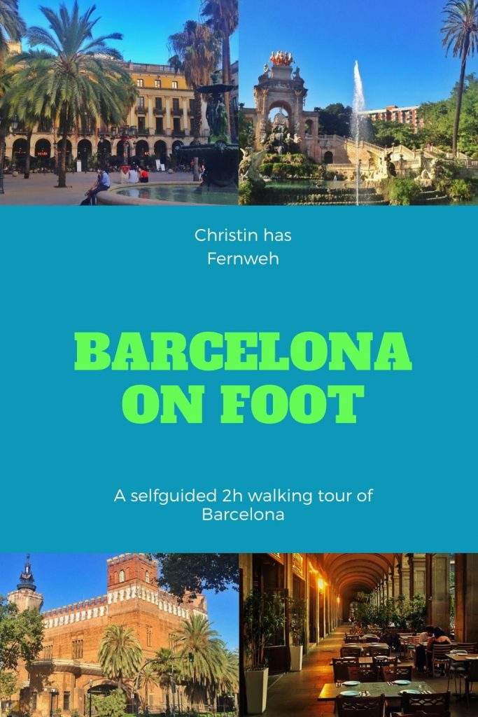 Barcelona Walking Tour pin