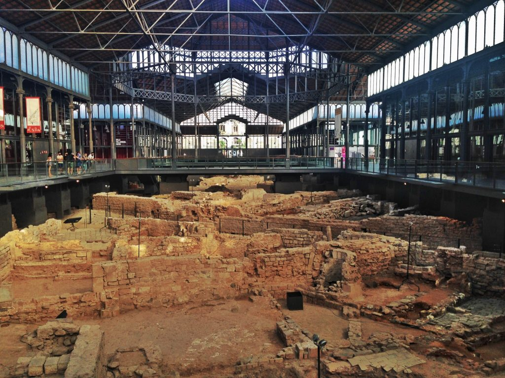 archeological site at Mercat del Born