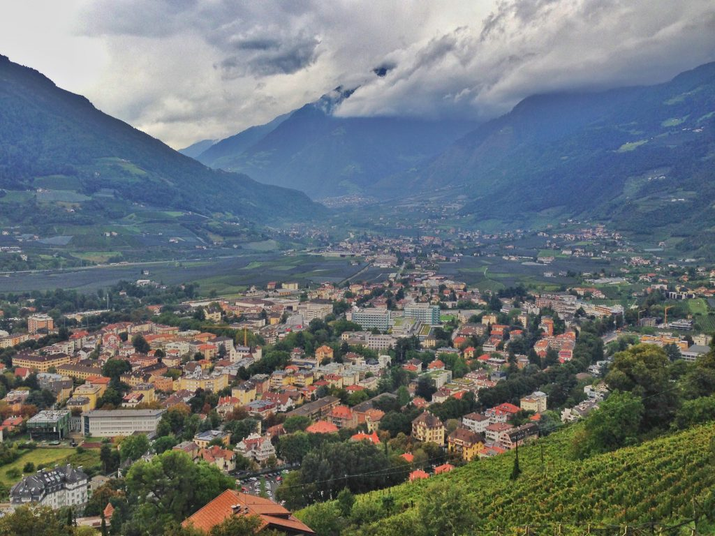 view over Merano from Tirol