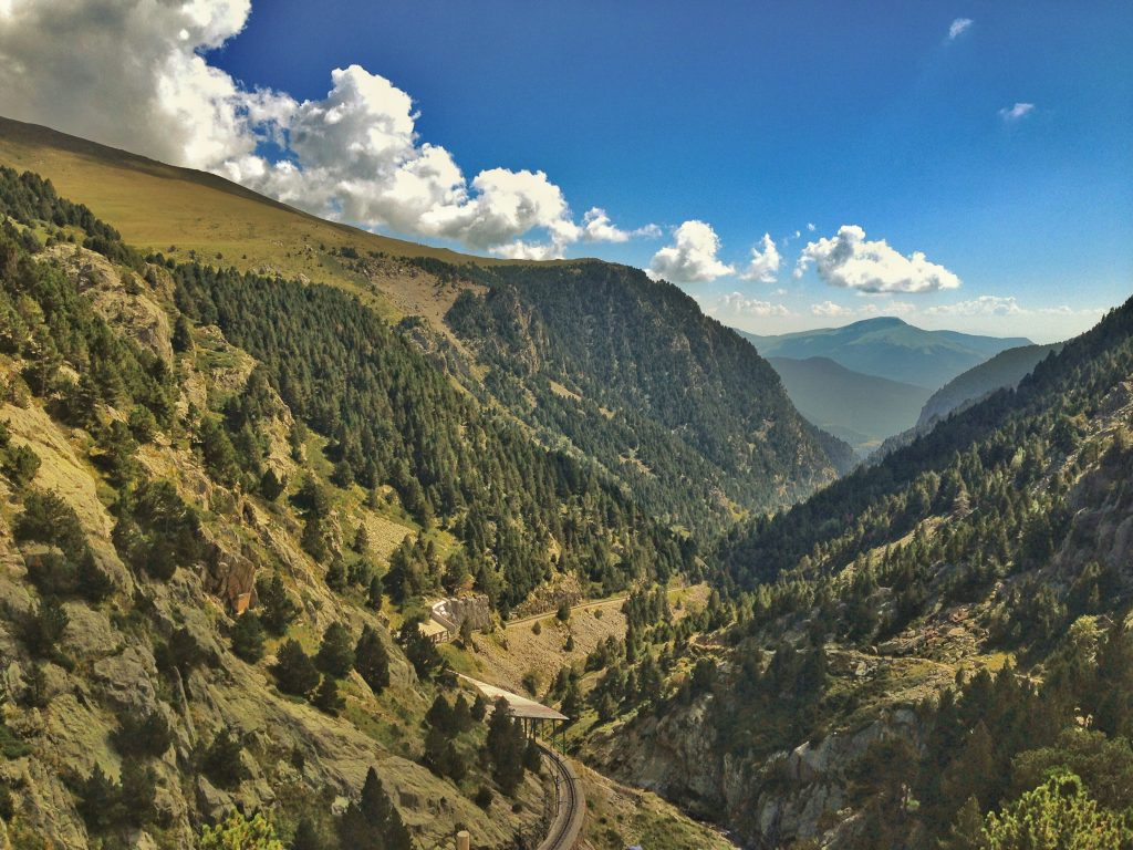 view into the Vall de Nuria valley