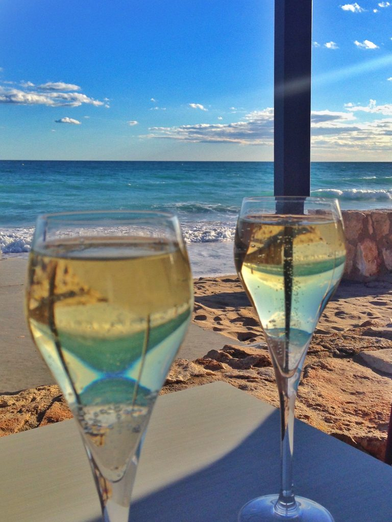 cava by the beach
