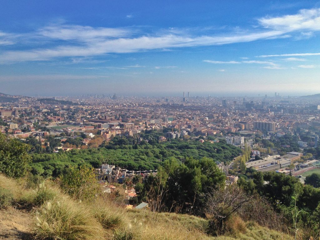 Hikes in Barcelona: view from Carretera de les Aigues