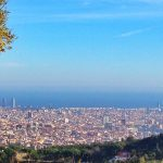 hiking in Barcelona, view from Carretera de les Aigues