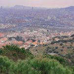 view from Marine Mountain Range Park over Barcelona