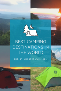best camping destinations Pinterest Graphic