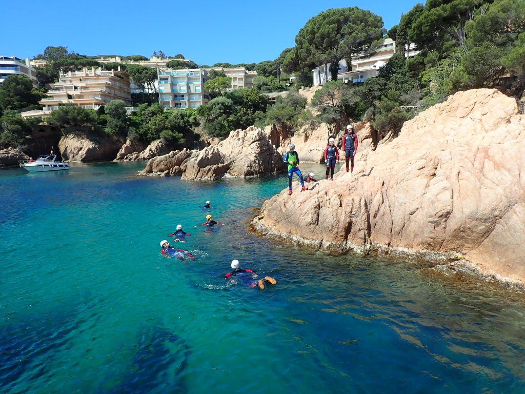 clear turquoise water on the Costa Brava