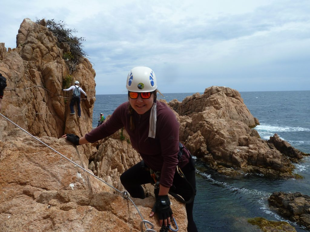 the beginning of the via ferrata is easier than the 2nd part