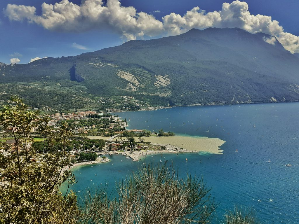 Torbole seen from Monte Brione Italy