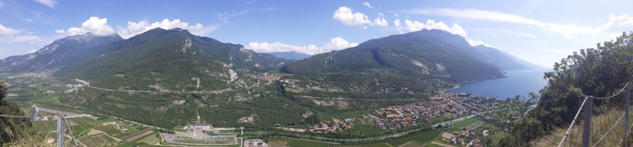 view over Nago-Torbole from Monte Brione